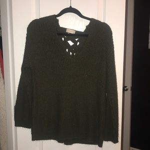 Altar'd State green long sleeve sweater